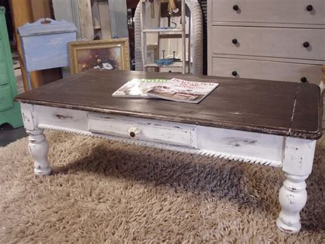 Distressing Wood Furniture by The French Flea Distressed Coffee Table
