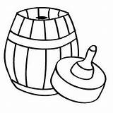 Barrel Empty Coloring Printable sketch template