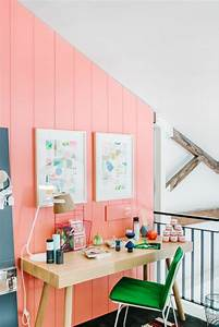 1001 idees de decoration avec la couleur corail les With couleur mur bureau maison