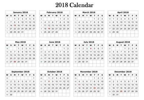 free 2018 calendar template 2018 calendar printable template
