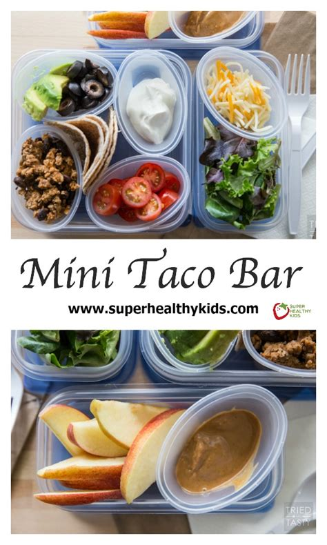 Great Kitchen Ideas - mini taco bar recipe healthy ideas for