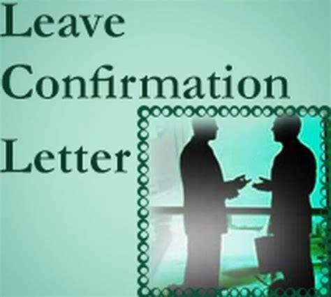 confirmation letter  leave application  letters