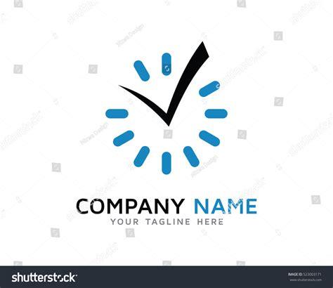 time check template check time logo design template stock vector 523003171