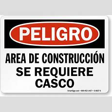 Bilingual Construction Signs Mysafetysigncom