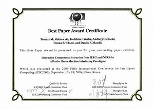 Best paper award certificate free download for Award certificate paper