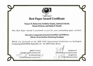 best paper award certificate free download With award certificate paper