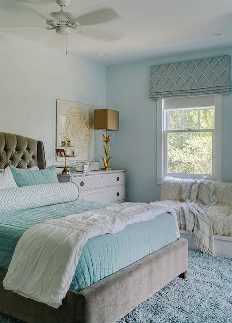 aqua blue bedroom ideas gray and aqua blue bedroom colors transitional girl s room