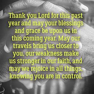 Thank you Lord ... New Year Pray Quotes