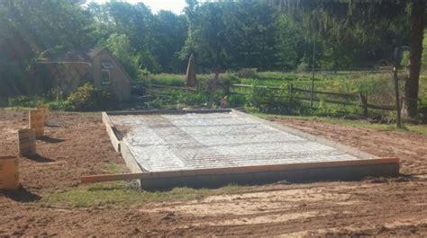concrete shed base    concrete garage foundation