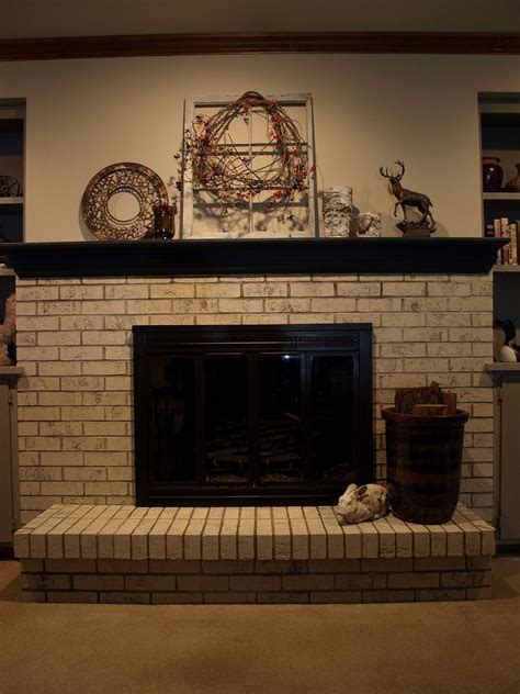 painting  brick fireplace  chalk paint hometalk