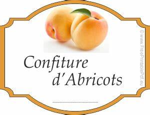 Mes étiquettes Gratuites à Imprimer : etiquette confiture abricot ustensiles de cuisine ~ Nature-et-papiers.com Idées de Décoration