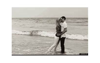 Beach Kissing Gifs Water Sand Lake Engagement