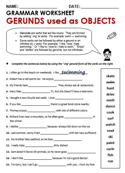 Best 25+ Gerund Exercises Ideas On Pinterest  English Grammar Exercises Online, Grammar