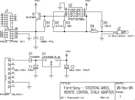 panuworld steering wheel remote stalk adapter