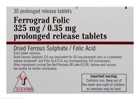 Ferrograd Folic 325mg035mg 30 Prolonged Release
