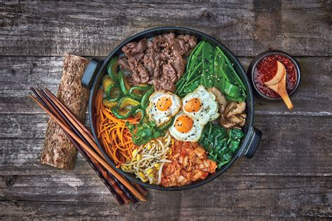 the cuisine mixed rice bowl with beef bibimbap recipe sbs food