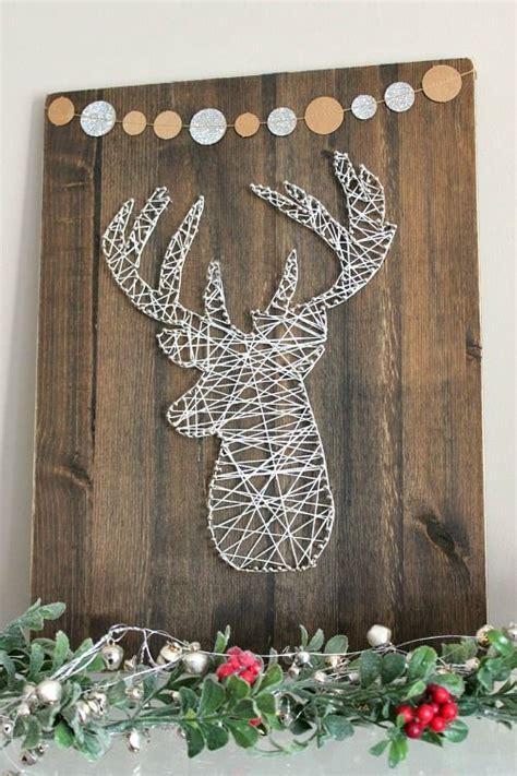 cute string art ideas  winter  christmas