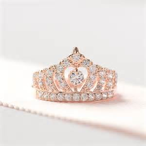 crown shaped engagement rings gold crown ring princess crown ring sterling silver