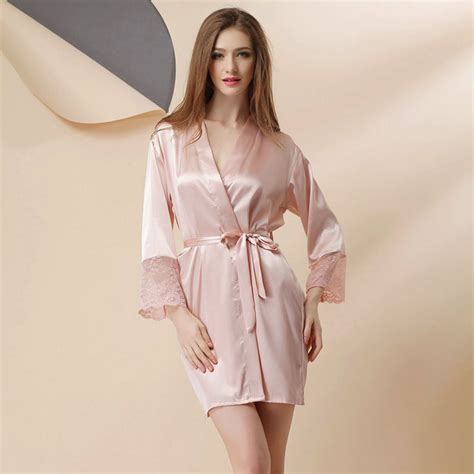 aliexpress com buy large size satin robe