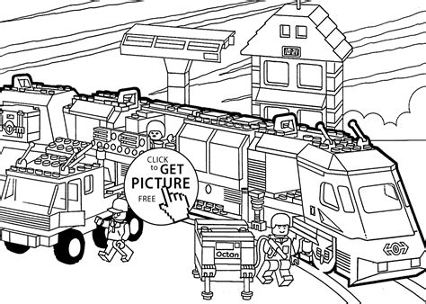 lego train coloring page  kids printable  lego