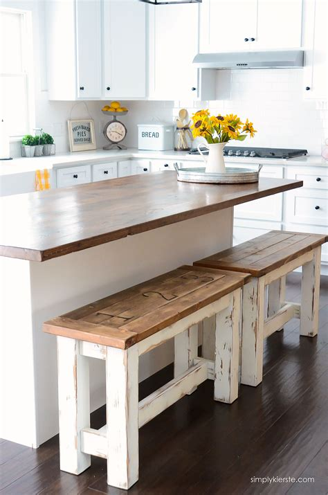 kitchen island with bench diy kitchen benches budget kitchen ideas farmhouse style 5200
