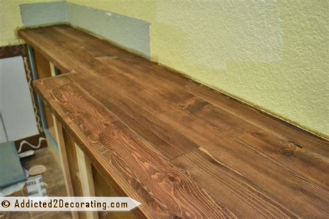 diy wood countertops my diy wood countertop is finished well almost