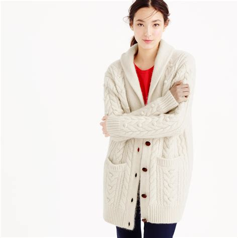 cable cardigan sweater j crew collection mohair cable cardigan sweater
