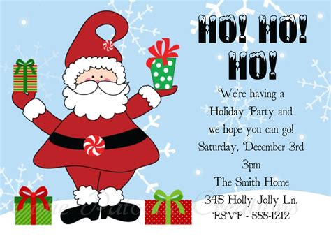 christmas party invitations  cutie patootie creations