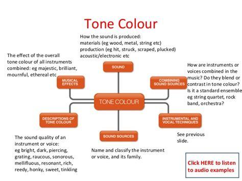 define tone color the concepts of