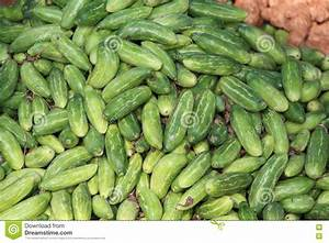 Indian Cucumbers At Vegetable Market. India Stock Image ...