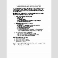 Word Choice Worksheet By Leah Levy  Teachers Pay Teachers
