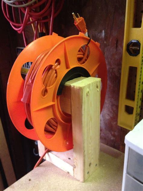 diy extension cord reel garage organization cord