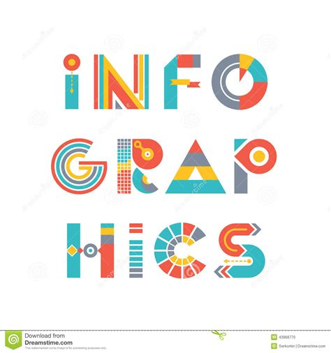 infographics word logo sign in flat style stock photo image 43968770