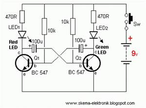 led lights using analog flip flop circuit diagram With circuit flip flop