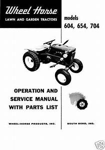 Wheel Horse Tractor Operation Service  U0026 Parts Manual