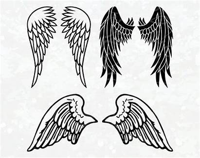 Wings Angel Svg Clipart Cricut Silhouette Cut