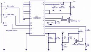 Voice Recorder Circuit Diagram
