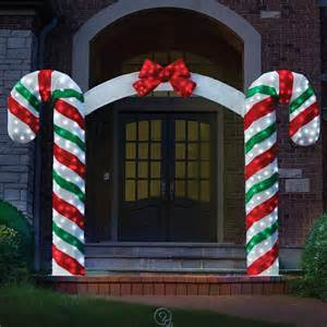 the illuminated candy cane archway prelit outdoor christmas decoration 7 tall ebay