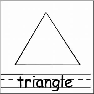 Clip Art: Shapes: Triangle B&W Labeled | abcteach