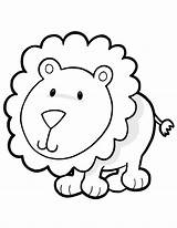 Lion Coloring Animal Cartoon Animales Toddlers Printable Mewarnai Lembar Colorear Colorare Dibujos Selva Leone Zoo Singa Kitten Dessin Bambini Enfants sketch template