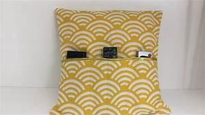 Coudre Une Housse De Coussin : coudre une housse de coussin pour t l commande tuto couture madalena youtube ~ Melissatoandfro.com Idées de Décoration