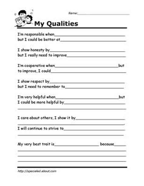 Printable Worksheets For Kids To Help Build Their Social Skills  Counseling Pinterest