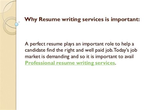 What Is Important To In A Resume by Why Resume Writing Services Is Important