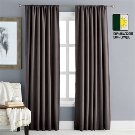 Black Out Curtains Walmartca by Hometrends 63 Quot Blackout Rod Pocket Window Panel