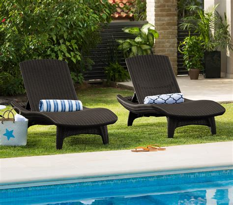 amazonca patio cushions keter 2 pack all weather adjustable outdoor patio chaise