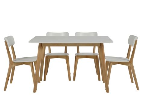 table de cuisine 4 chaises table 4 chaises smogue bois blanc mykaz