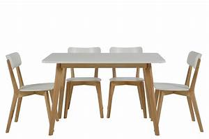 Table 4 Chaises SMOGUE Bois Blanc Mykaz