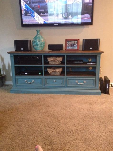 hometalk dresser  entertainment center transformation
