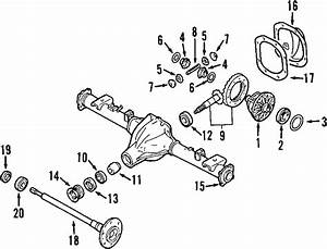 Nissan Frontier Differential Pinion Seal  Axle  Rear