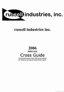Russel Industries Prb Belt Cross Reference Product Guide
